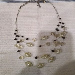 Chico's Pearl and Swarovski Beaded Necklace